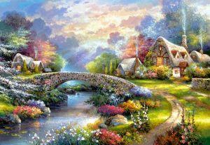 Puzzle Castorland 1000 dílků - Jaro nad řekou art 103171