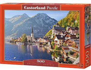 Puzzle Castorland 500 dílků  - Hallstatt -  Rakousko