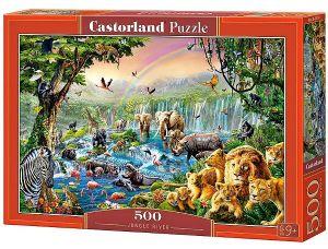 Puzzle Castorland 500 dílků - Řeka v džungli    art. 52141