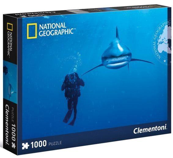 Puzzle Clementoni 1000 dílků - National Geografic - Žralok - 39303