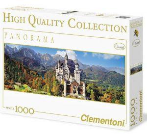 Puzzle Clementoni 1000 dílků  panorama - Neuschwanstein   -