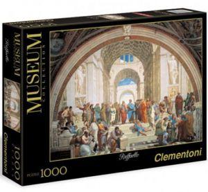 Puzzle Clementoni 1000 dílků - Raffaello -  škola v Aténách