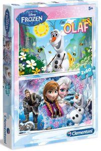 Puzzle Clementoni 2 x 60  dílků  - Frozen - Ledové královstí