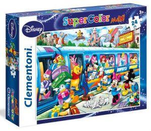 Puzzle Clementoni 24 dílků MAXI   -  Disney vlak   24464
