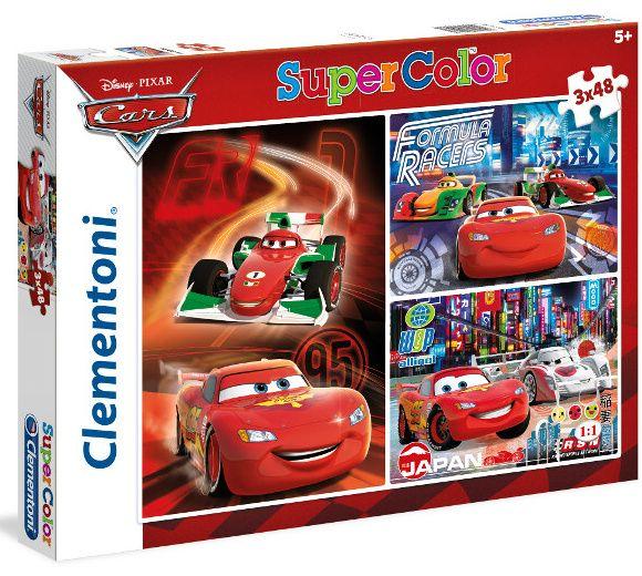 Puzzle Clementoni - 3 x 48 dílků - CARS 25197