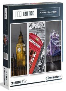 Puzzle Clementoni 3 x 500 dílků - Londýn 39306 -