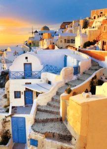 Puzzle Clementoni 500 dílků - Santorini - Řecko 30304
