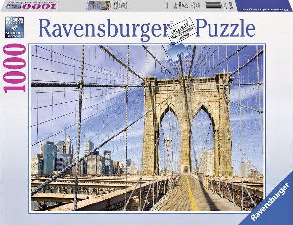 Puzzle Ravensburger 1000 dílků - Brooklynský most 194247
