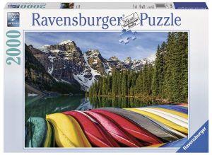 Puzzle Ravensburger - 2000 dílků  Horské kajaky  166473
