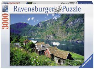 3000 dílků   Norsko - Sognefjord  -   puzzle Ravensburger