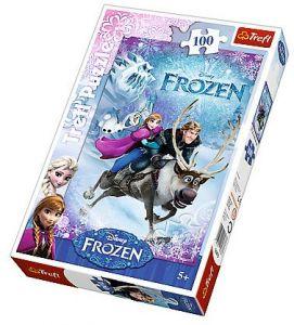 Puzzle Trefl 100 dílků  - Frozen - Ledové království 16273