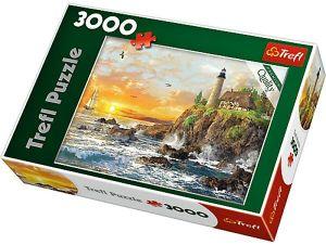3000 dílků  Západ slunce nad skalistým pobřežím  -  puzzle Trefl 33044