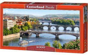 Puzzle 4000 dílků - Mosty v Praze  -    Castorland 400096