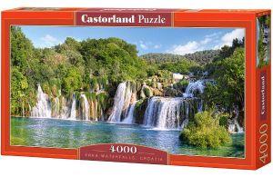 Puzzle 4000 dílků - Vodopády - Krka - Chorvatsko   -    Castorland