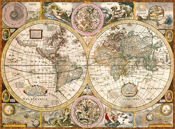 Clementoni Puzzle 33531 Stará mapa 3000 dílků