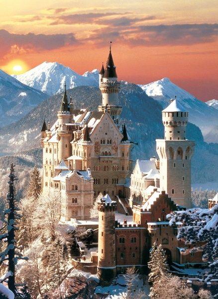 Puzzle CLEMENTONI 1500 dílků - Neuschwanstein