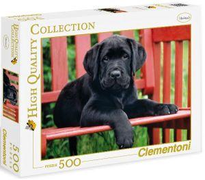 Puzzle CLEMENTONI 500 dílků - Černý pes