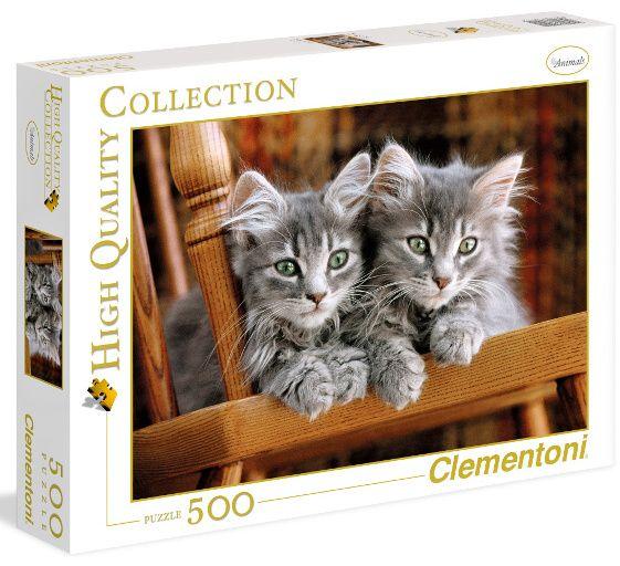 Puzzle CLEMENTONI 500 dílků - Koťátka