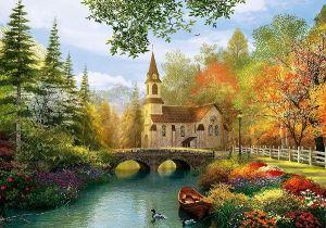 TREFL Puzzle 4000 dílků D. Davison: Podzimní nostalgie