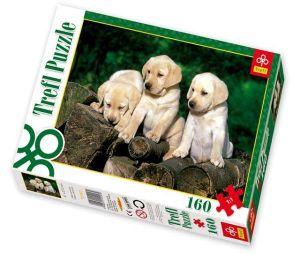 TREFL Puzzle pro děti 160 dílků Štěňata labradorů