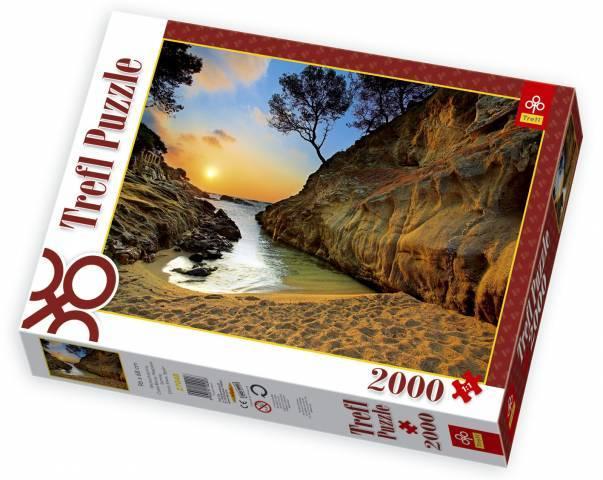 TREFL Puzzle Východ slunce Costa Brava Španělsko 2000 dílků