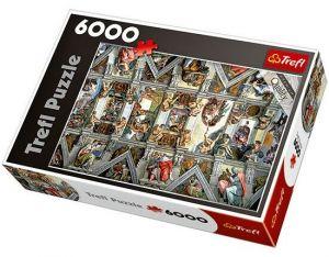 TREFL Puzzle Michelangelo Strop Sixtinské kaple 6000 dílků