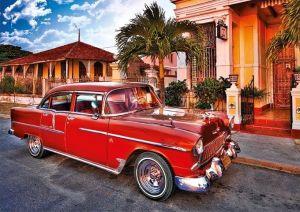 TREFL Puzzle Veterán Chevrolet Bel Air Kuba 1000 dílků