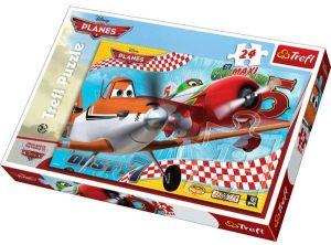 TREFL Maxi puzzle pro děti Letadla Prášek a Chupacabra 24 dílků