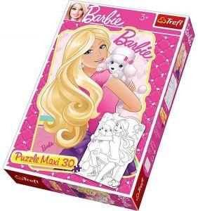 TREFL Maxi Puzzle pro děti Barbie s pejskem 30 dílků