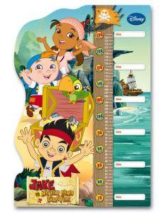 Růstový metr Clementoni 30 dílků - Metr Jake a piráti ze Země Nezemě 20302