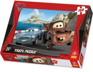 Trefl Puzzle pro děti Auta 2 Burák a Finn 160 dílků