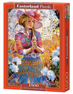 Castorland - Puzzle 1500 dílků  151363 - Dívka se slunečníkem