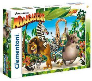 CLEMENTONI Dětské Maxi puzzle  24 dílků 24043 Madagaskar