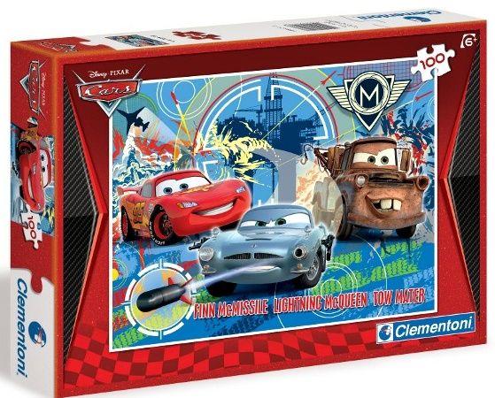 CLEMENTONI Dětské puzzle 100 dílků - CARS 2 - Grand Prix 07208