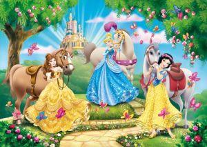 CLEMENTONI Dětské puzzle 100 dílků - Disney Princezny s koníky