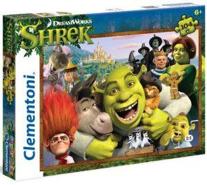 CLEMENTONI Dětské puzzle 104 dílků  27943 - Shrek