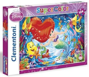 CLEMENTONI Dětské puzzle 104 dílků Malá mořská víla
