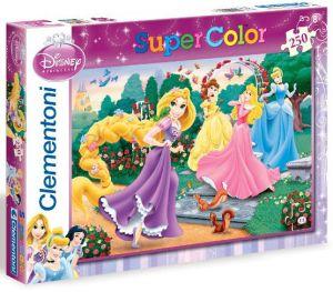 CLEMENTONI Dětské puzzle 250 dílků Disney Princezny: Procházka zahradou