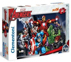 Clementoni Puzzle 26749   Avengers    60 dílků MAXI