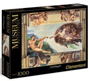 Clementoni Puzzle - Michelangelo - Stvoření Adama - 1000 dílků