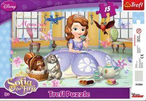 Deskové puzzle Trefl 15 dílků - 31204 - Princezna Sofie první