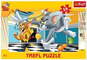 Deskové puzzle Trefl 15 dílků - 31214 - Tom a Jerry