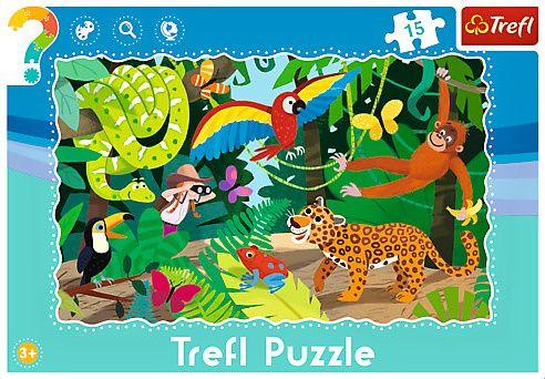Deskové puzzle Trefl 15 dílků - 31219 - tropický prales