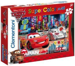 Dětské MAXI puzzle - Auta 2 (Cars 2): Závod v Japonsku 104 dílků