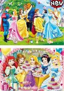 Dětské puzzle  2x20 dílků  - princezny  2v1