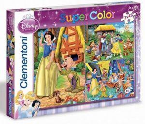 Dětské puzzle Clementoni  - 3 x 48 dílků  - Sněhurka a sedm trpaslíků  25160
