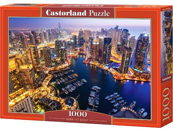 Puzzle Castorland 1000 dílků - Dubai v noci art 103256