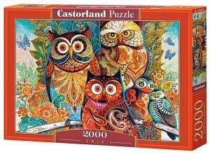 Puzzle Castorland 2000 dílků  200535 - Sovy