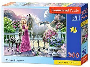 Puzzle Castorland 300 dílků - 030088 - můj přítel jednorožec