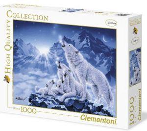Puzzle CLEMENTONI 1000 dílků - Rodina vlků